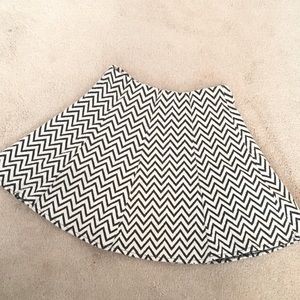 Chevron skater skirt